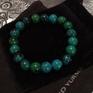 Gorgeous Brazilian green Amazonite bracelet.